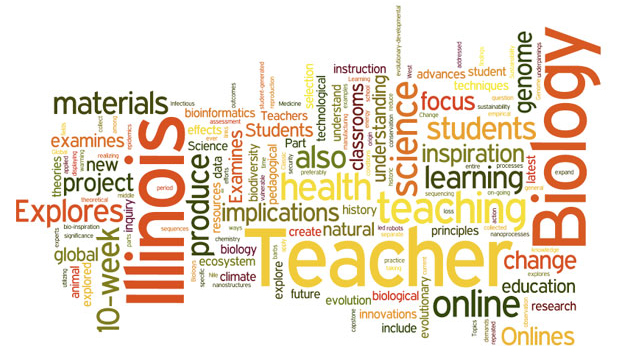MS Online Teaching Word Cloud